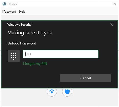Sau khi đăng nhập vào 1Password bằng mật khẩu chính một lần, bạn có thể nhập mã PIN để mở khóa ứng dụng vào lần tiếp theo