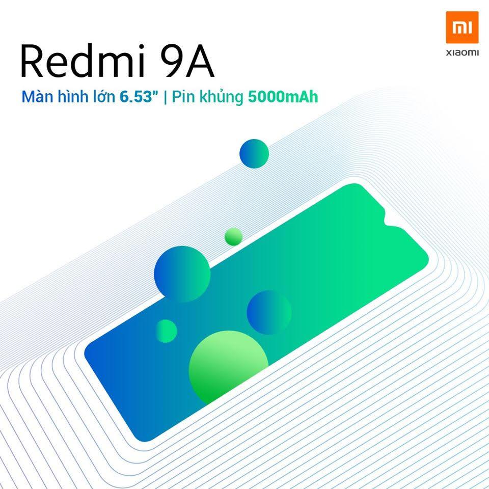 Xiaomi Redmi 9A ra mắt: 3 màu, pin 5.000mAh, giá 1,99 triệu đồng