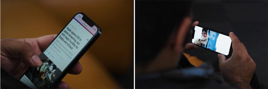 Mặc dù tần số quét vẫn chỉ là 60 Hz, chất lượng màn hình trên iPhone 12 Pro vẫn không thua kém smartphone Android.