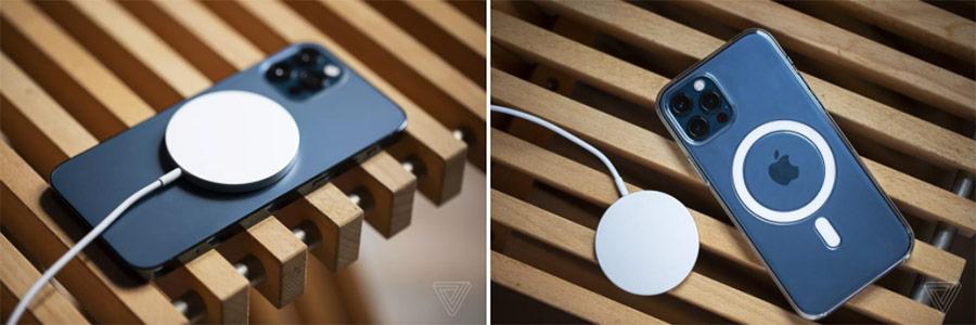 Ốp lưng và đế sạc MagSafe chính hãng của Apple.