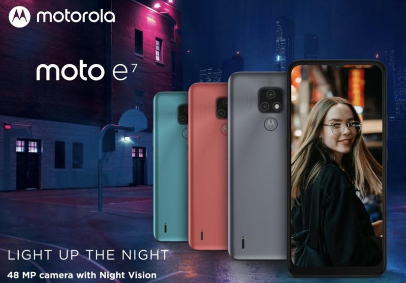 Motorola ra mắt chiếc smartphone có giá rẻ nhất Moto E7
