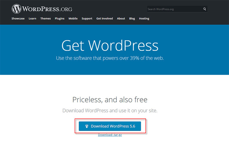 Tải nguyên bản WordPress mới nhất về sau đó Upload lên lại