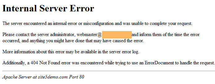 Nguyên nhân dẫn đến lỗi Internal Server Error trong wordpress?