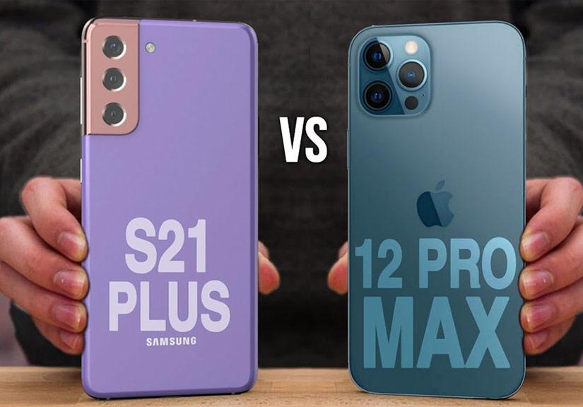 Video so sánh thiết kế Galaxy S21+ và iPhone 12 Pro Max