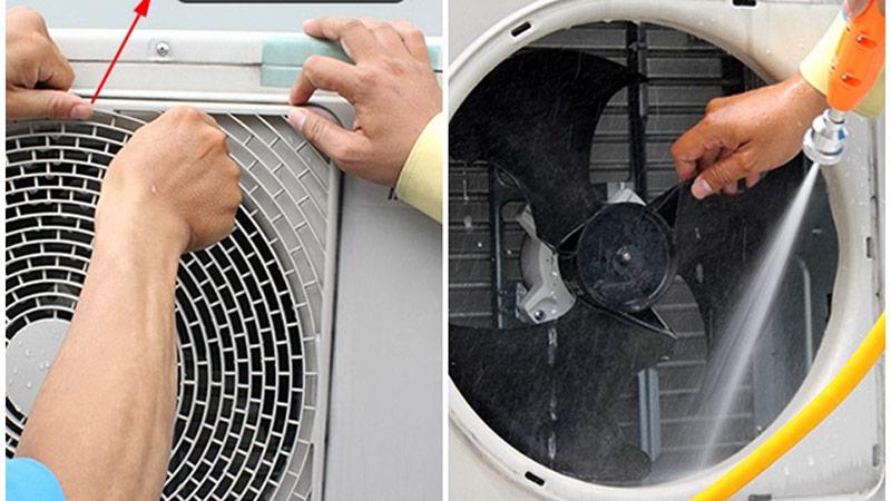 Xịt rửa làm sạch dàn nóng máy lạnh