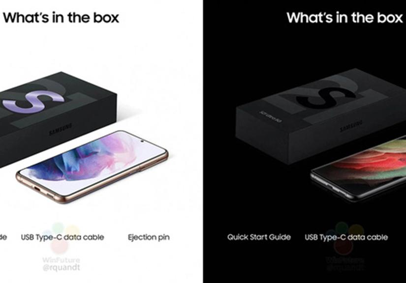 Hình ảnh rò rỉ xác nhận Samsung sẽ nối gót Apple, loại bỏ củ sạc và tai nghe trên Galaxy S21