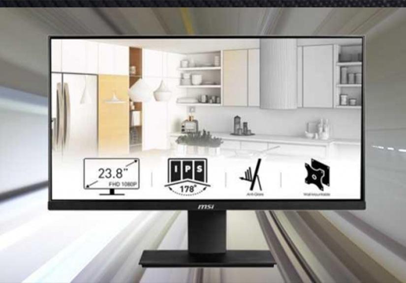 MSI dự kiến ra mắt dòng màn hình PRO MP242 có thể xoay dọc độc đáo