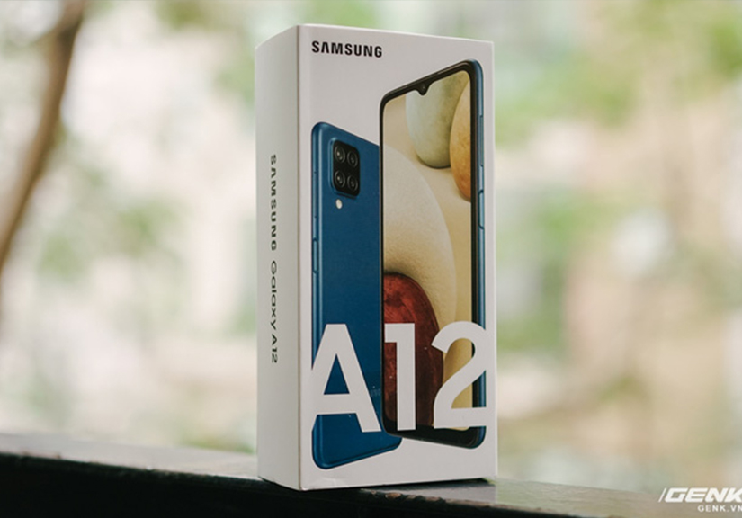 Trên tay Galaxy A12: Thiết kế trẻ trung, cụm 4 camera 48MP chất lượng, pin 5000mAh, giá chưa tới 4 triệu