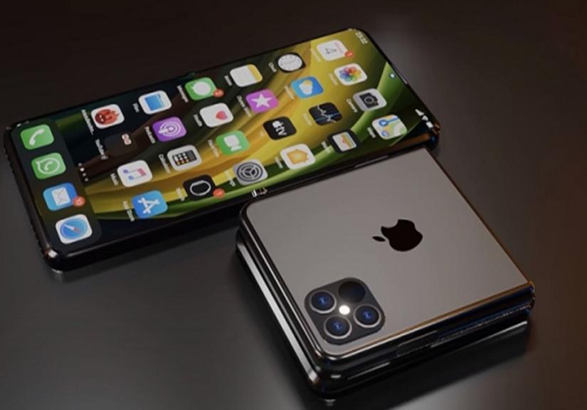 """Rất nhiều thông tin về iPhone màn hình gập dạng """"vỏ sò"""""""