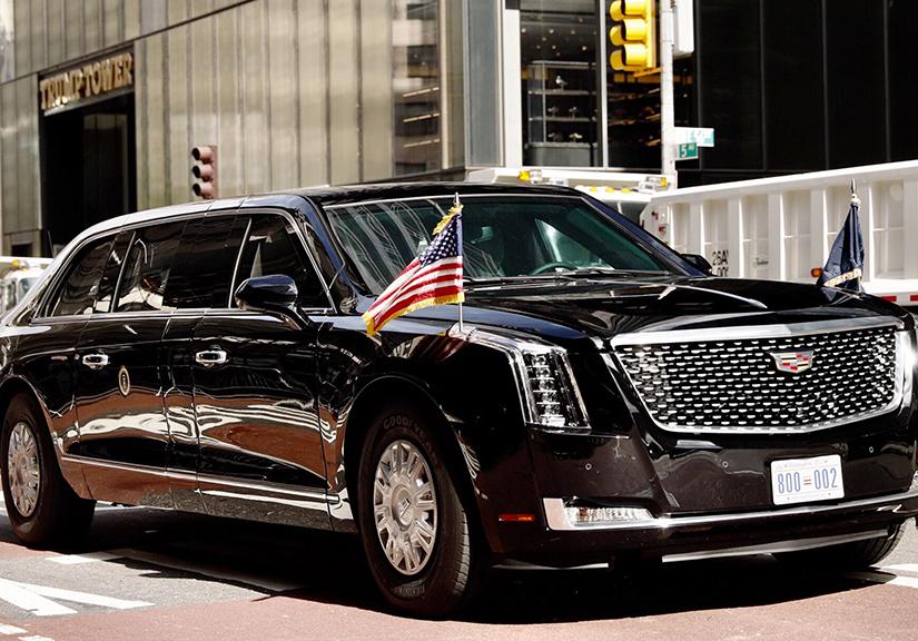 Cận cảnh siêu xe Cadillac của Tổng thống Mỹ - Quái thú nặng 9 tấn với khả năng phóng vũ khí hạt nhân