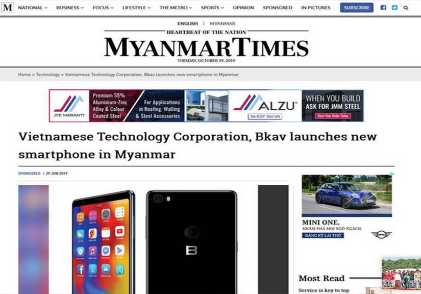 Đường xuất ngoại của smartphone Việt