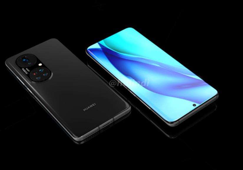 """Huawei P50 Pro+ lộ diện: Màn hình """"thác nước"""", cụm 5 camera hình bầu dục """"siêu to khổng lồ"""""""