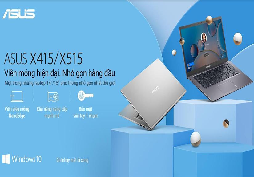 Ra mắt laptop phổ thông ASUS X415/X515,giá từ 6,9 triệu đồng