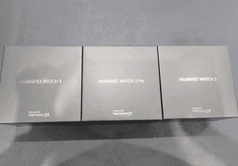 Lộ hình ảnh thực tế đầu tiên của Huawei Watch 3 chạy hệ điều hành HarmonyOS