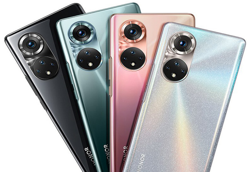 Honor 50 và 50 Pro lộ toàn bộ thiết kế, cụm camera sau giống với Huawei P50