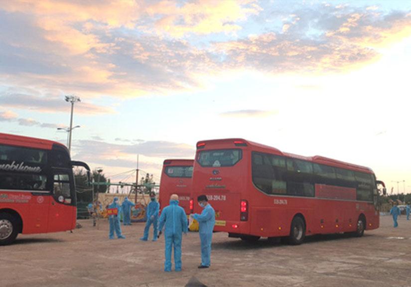 Phú Yên đón 344 người dân từ TP.HCM trở về