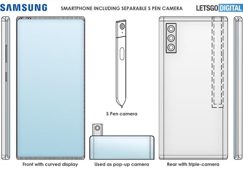 Samsung lên ý tưởng bổ sung camera cho bút S-Pen